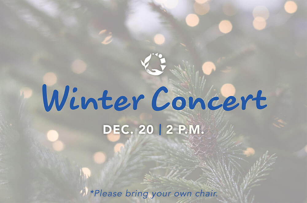 BCMA Winter Concert - December 20 @ 2 P.M. - PLEASE BRING YOUR OWN CHAIR