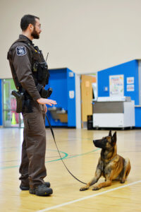 Photo of K9 Dog and handler