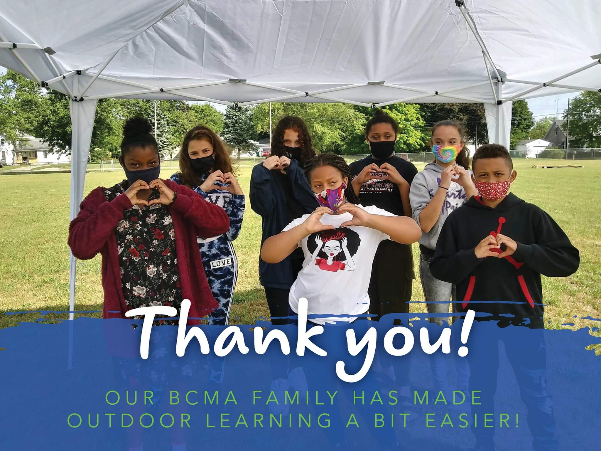 Thank you! Our BCMA family has made outdoor learning a bit easier